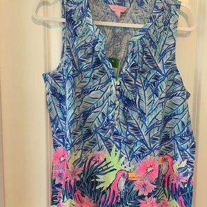 New Lilly Pulitzer Size L Essie Top Lets Mango